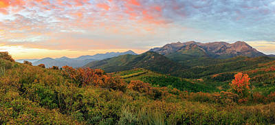 Photograph - Wasatch Back Fall Panorama by Johnny Adolphson