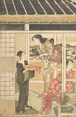 Relief - Washing Day by Kitagawa Utamaro
