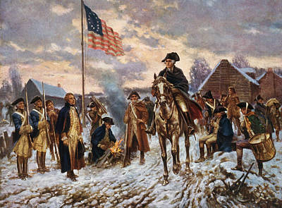 Abstract Oil Paintings Color Pattern And Texture - Washington at Valley Forge by War Is Hell Store