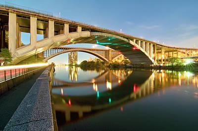 The Bronx Photograph - Washington Bridge by Photography By Steve Kelley Aka Mudpig