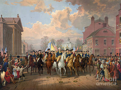 Painting - Washington Entering New York City 1783 by Granger