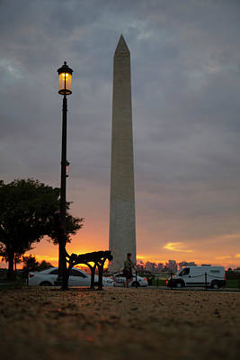 Just Desserts - Washington Monument During a Colorful Sunset by Sean Comiskey