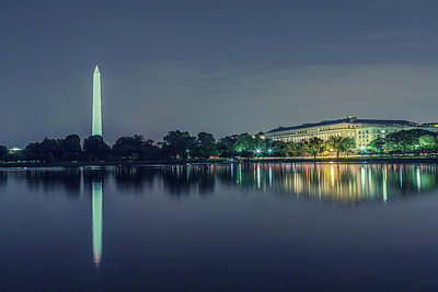 Photograph - Washington Monument From The Jefferson Memorial Site by Belinda Greb
