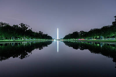 Photograph - Washington Monument From The Lincoln Memorial No. 1 by Belinda Greb