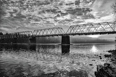 Photograph - Washington's Crossing Bridge In Black And White by Bill Cannon