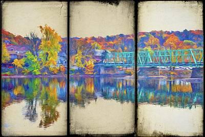 Photograph - Washington's Crossing Bridge Panes by Alice Gipson