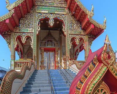 Photograph - Wat Chai Mongkon Phra Ubosot Entrance Dthlu0394 by Gerry Gantt