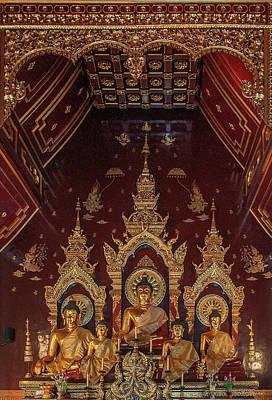 Photograph - Wat Chang Taem Phra Wihan Buddha Images Dthcm2798 by Gerry Gantt