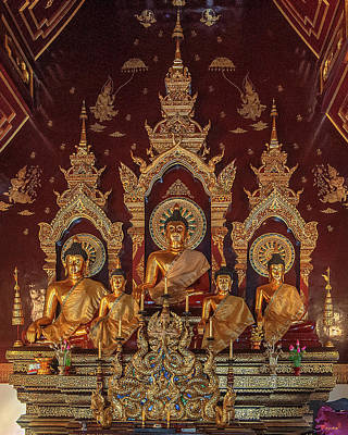 Photograph - Wat Chang Taem Phra Wihan Buddha Images Dthcm2799 by Gerry Gantt