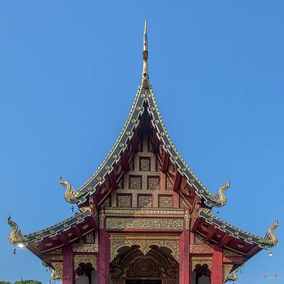Photograph - Wat Chang Taem Phra Wihan Gable Dthcm2792 by Gerry Gantt