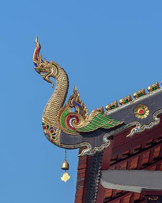 Photograph - Wat Chang Taem Phra Wihan Naga Roof Finial Dthcm2801 by Gerry Gantt