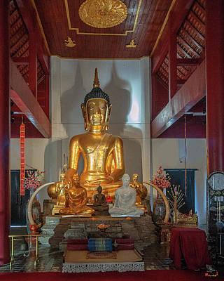 Photograph - Wat Chet Lin Phra Wihan Buddha Images Dthcm2739 by Gerry Gantt