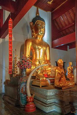 Photograph - Wat Chet Lin Phra Wihan Principal Buddha Image Dthcm2741 by Gerry Gantt