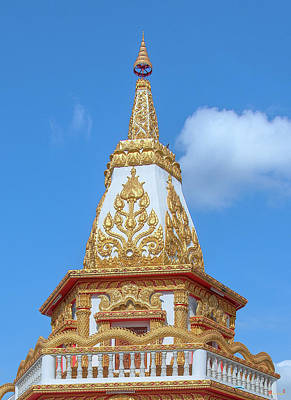 Studio Grafika Zodiac Rights Managed Images - Wat Dong Bang Nuea Phra Chedi Pinnacle DTHU0899 Royalty-Free Image by Gerry Gantt