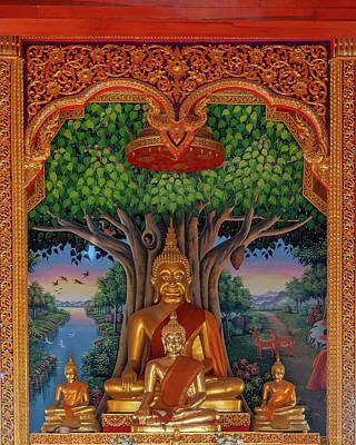 Photograph - Wat Kulek Phra Wihan Buddha Images Dthlu0448 by Gerry Gantt