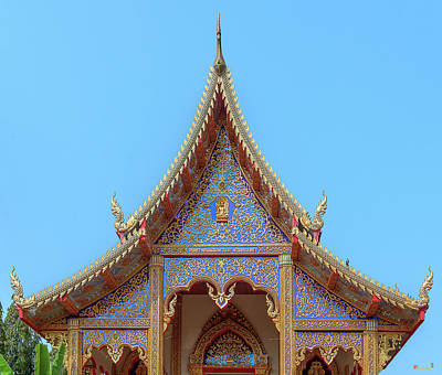 Photograph - Wat Kulek Phra Wihan Gable Dthlu0443 by Gerry Gantt