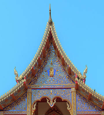 Photograph - Wat Kulek Phra Wihan Gable Dthlu0444 by Gerry Gantt