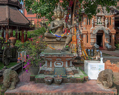 Photograph - Wat Lok Molee Brahma Shrine Dthcm2563 by Gerry Gantt