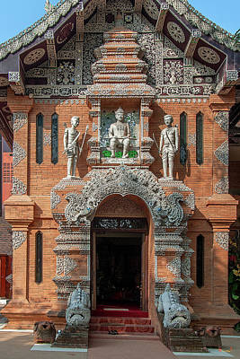 Photograph - Wat Lok Molee King Mengrai Wihan Doorway Dthcm2556 by Gerry Gantt