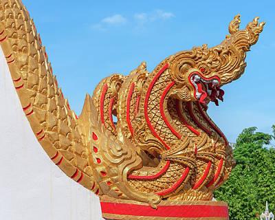 Photograph - Wat Luang Ubosot Stair Naga Dthu299 by Gerry Gantt