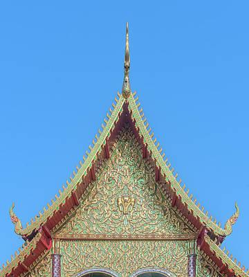 Photograph - Wat Nong Khrop Phra Ubosot Gable Dthcm2663 by Gerry Gantt