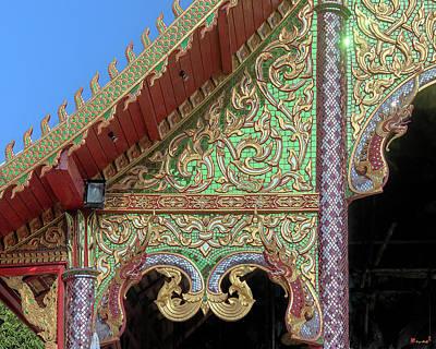 Photograph - Wat Nong Khrop Phra Ubosot Gable Naga Dthcm2666 by Gerry Gantt