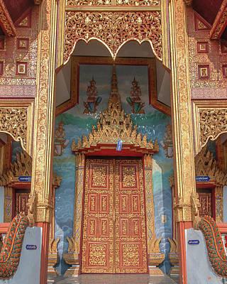 Photograph - Wat Nong Tong Phra Wihan Doors Dthcm2642 by Gerry Gantt