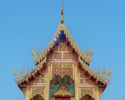 Photograph - Wat Nong Tong Phra Wihan Gable Dthcm2640 by Gerry Gantt