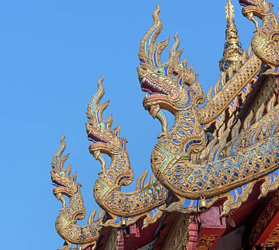 Photograph - Wat Nong Tong Phra Wihan Naga Roof Finials Dthcm2648 by Gerry Gantt