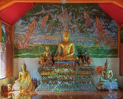 Photograph - Wat Pa Chai Mongkhon Phra Ubosot Buddha Images Dthla0126 by Gerry Gantt