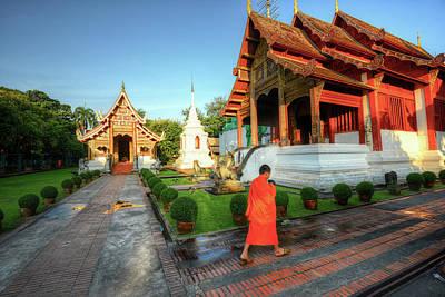 Wat Phra Singh, Chiang Mai Art Print by Ashit Desai