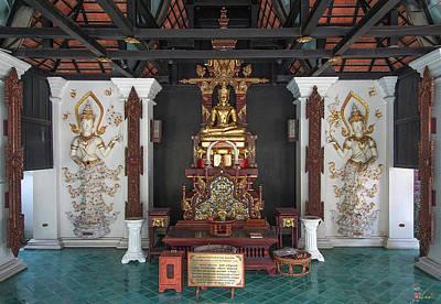 Photograph - Wat Puack Chang Merit Pavilion Buddha Image Dthcm0164 by Gerry Gantt