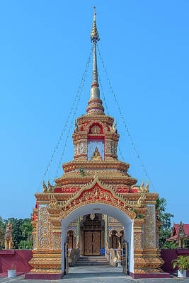 Photograph - Wat Tham Sangwet Temple Gate Dthlu0536 by Gerry Gantt
