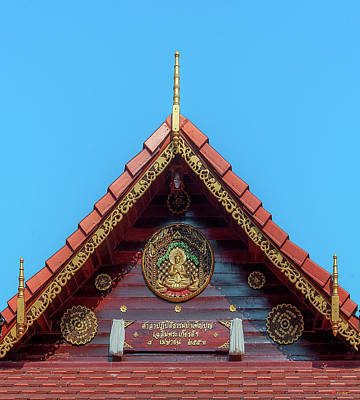 Photograph - Wat Tham Sangwet Tham Phen Phun Practice Hall Gable Dthlu0532 by Gerry Gantt