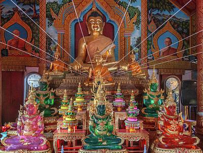 Photograph - Wat Tung Yu Phra Wihan Buddha Images Dthcm2773 by Gerry Gantt