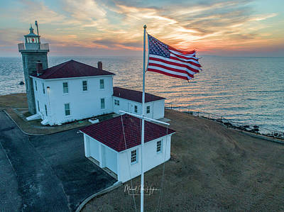 Photograph - Watch Hill Lighthouse  by Michael Hughes