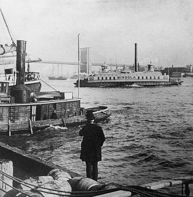 Watching Boats Art Print by Hulton Archive