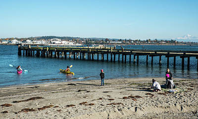 Photograph - Watching Kayaks On Drayton Harbor by Tom Cochran
