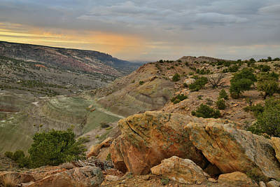 Photograph - Watching Sunset Over Co National Monument From Bentonite Site by Ray Mathis