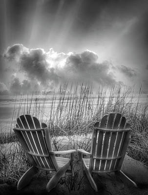 Photograph - Watching The Day Begin In Black And White by Debra and Dave Vanderlaan