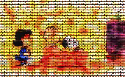 Linus Wall Art - Digital Art - Watching The Tube by Mario Carini