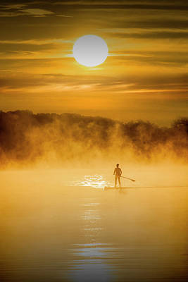 Photograph - Water Boarder At Sunrise by Randall Nyhof