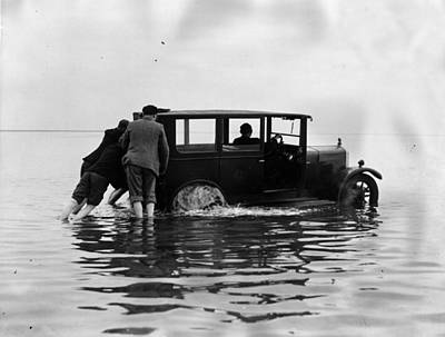 Photograph - Water Car by Fox Photos