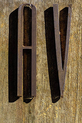 Photograph - Water Drop On Raised Letter - Exterior Sign by Robert Ullmann