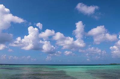 Antilles Photograph - Water, Horizon And Sky, Mangel Halto by Alberto Biscaro