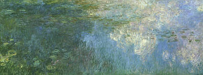 Painting - Water Lilies Nympheas By Claude Monet by Peter Willi