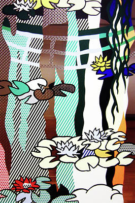 Photograph - Water Lilies With Japanese Bridge by Doc Braham - In Tribute to Roy Lichtenstein