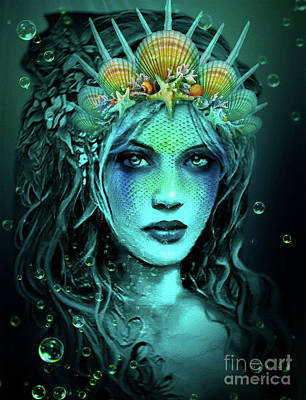 Digital Art - Water Queen by Kathy Kelly