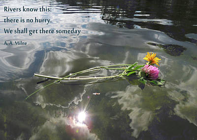 Photograph - Water Reflection And Quote by Nancy Griswold