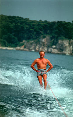Sea Photograph - Water-skiing Star by Slim Aarons